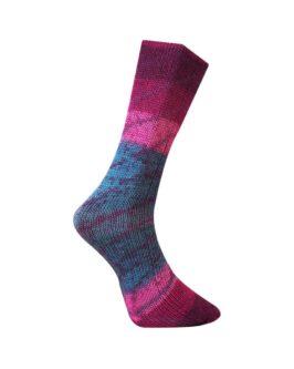 Lungauer Sockenwolle mit Seide<br />412-20Beere-Blau