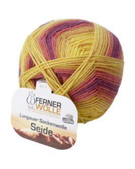 Lungauer Sockenwolle mit Seide<br />414-20Gelb-Beere