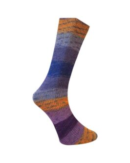 Lungauer Sockenwolle mit Seide<br />415-20Blau-Beige