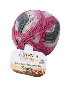 Lungauer Sockenwolle mit Seide<br />417-20Grau-Rosa