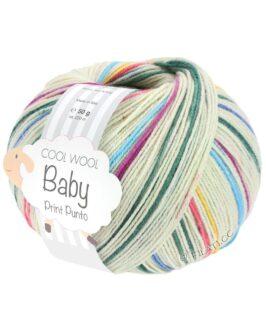 Cool Wool Baby Print<br />313Rohweiß/Dunkelgrün/Taubenblau/Koralle/Fuchsia/ Gelb/Türkis