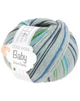 Cool Wool Baby Print<br />315Hellgrau/Anthrazit/Hell-/Weißgrün/Türkis/ Graublau