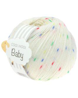 Cool Wool Baby Print Punto<br />351Weiß/Blau/Grün/Gelb