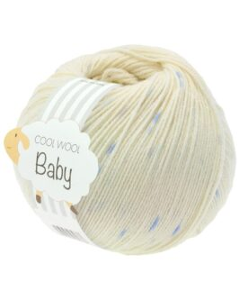 Cool Wool Baby Print Punto<br />354Rohweiß/Hellblau/Zartlila