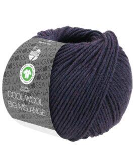 Cool Wool Big Mélange GOTS<br />202Aubergine meliert