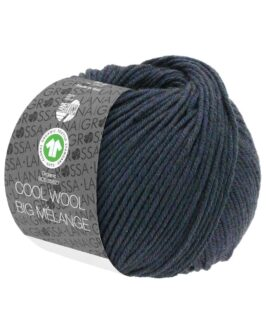 Cool Wool Big Mélange GOTS<br />204Blaugrün meliert