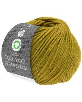 Cool Wool Big Mélange GOTS<br />208Dunkeloliv/Olivgelb meliert