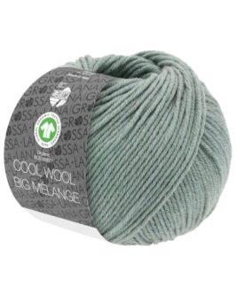 Cool Wool Big Mélange GOTS<br />209Graugrün meliert