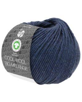Cool Wool Big Mélange GOTS<br />212Dunkelblau meliert