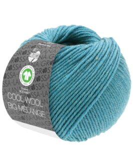 Cool Wool Big Mélange GOTS<br />226Dunkeltürkis meliert