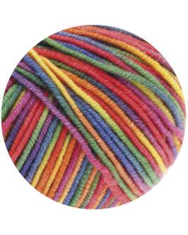 Cool Wool Print<br />703Lila/Grün/Himbeer/Orange/Gelb/Blau