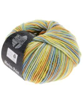 Cool Wool Print<br />722Zartgrün/Hellblau/Gelb/Orange/Ecru