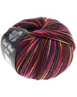 Cool Wool Print<br />749Weinrot/Pink/Gelbgrün/Blauviolett/Lachs/Mokka