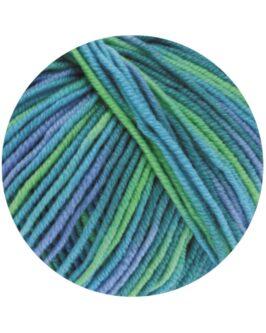 Cool Wool Print<br />757Türkis/Petrol/Himmelblau/Hellgrün