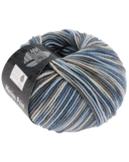 Cool Wool Print<br />763Hellblau/Grège/Graubraun/Blaugrau