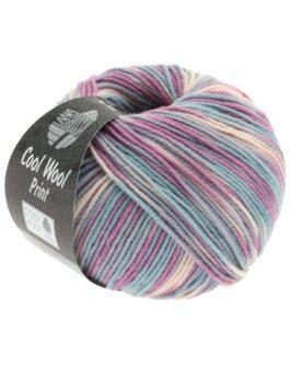 Cool Wool Print<br />792Hellgrau/Mint/Flieder/Blassrosa