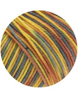 Cool Wool Print<br />818Zitrus-/Sonnengelb/Graugün/Zimtbraun