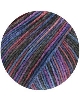 Cool Wool Print<br />821Marine/Burgund/Violett/Anthrazit