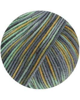 Cool Wool Print<br />824Ocker/Mint/Mittel-/Dunkelgrau