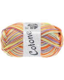 Cotone Print<br />325Vanille/Lila/Orange/Blassgrün