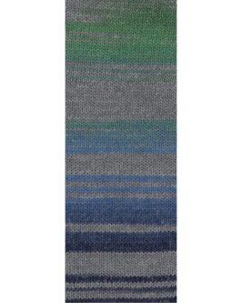 Gomitolo Bene<br />754Grün/Grau/Mittelblau/Jeans/Dunkelblau