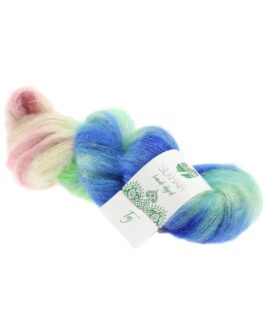 Silkhair Hand-Dyed<br />602Taj – Blau/Mint/Rosa/Grau