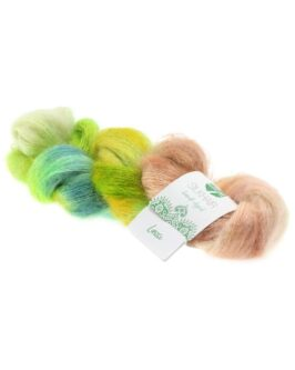Silkhair Hand-Dyed<br />606Lassi – Limette/Gelb/Petrol/Beige