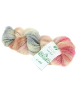 Silkhair Hand-Dyed<br />610Beige/Rosa/Ecru/Hell-/Dunkelgrau