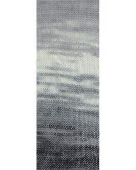 Silkhair Print<br />323Rohweiß/Hellgrau/Dunkelgrau/Schwarz