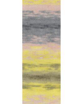 Silkhair Print<br />374Grau/Anthrazit/Rosa/Gelb/Khaki/Oliv