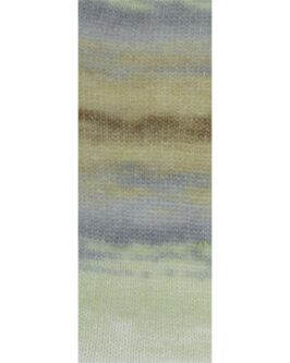 Silkhair Print<br />376Mint/Hellgrau/Grau/Beige/Dunkelbraun/Zartgrün