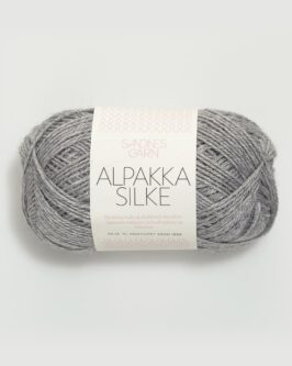 Alpakka Silke<br />1042Lys Gråmelert