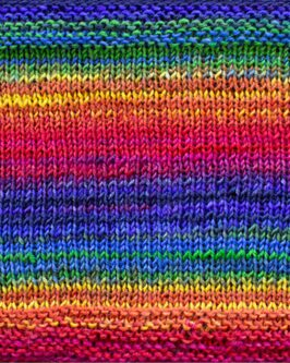 Uneek Fingering<br />3004Blau-Gelb-Orange-Pink